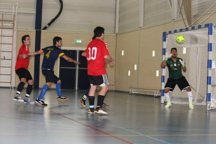 Tournament MVP Marco Bocutti (4) makes an attempt on goal during the final match of the 2017 Webster international soccer tournament. Bocutti, as a midfielder, made more attempts on goal from his position due to the smaller, futsal-like pitch. Photo: Brian Ruth
