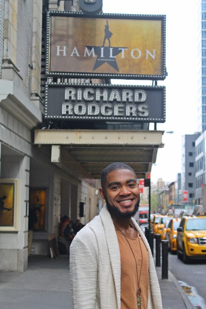 Webster University alumnus Cody Renard Richard serves as the assistant stage manager for Broadway box-office smash, Hamilton. Richard graduated from Webster in 2010. CODY RENARD RICHARD / Contributed Photo