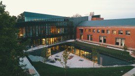 The new ISB building is located behind and attached to the East Academic Building. PC: Andrew Young
