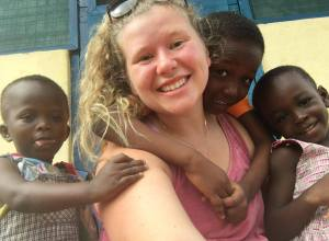 Jenna Rodriguez taught children, including ones with disabilities, while in Ghana.  Photo by Jenna Rodriguez