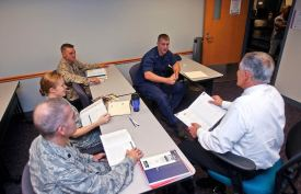 Photo Credit: Webster University Webster's military students study at one of Webster's 39 military base campuses.