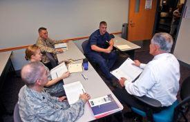 Photo Credit: Webster University Webster's military students study at one of Webster's 39 military base campuses.