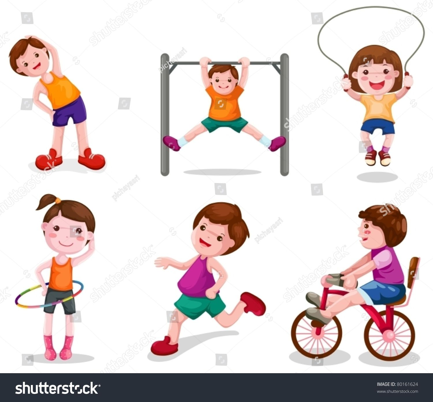 Exercising Clipart Physical Activity Exercising Physical