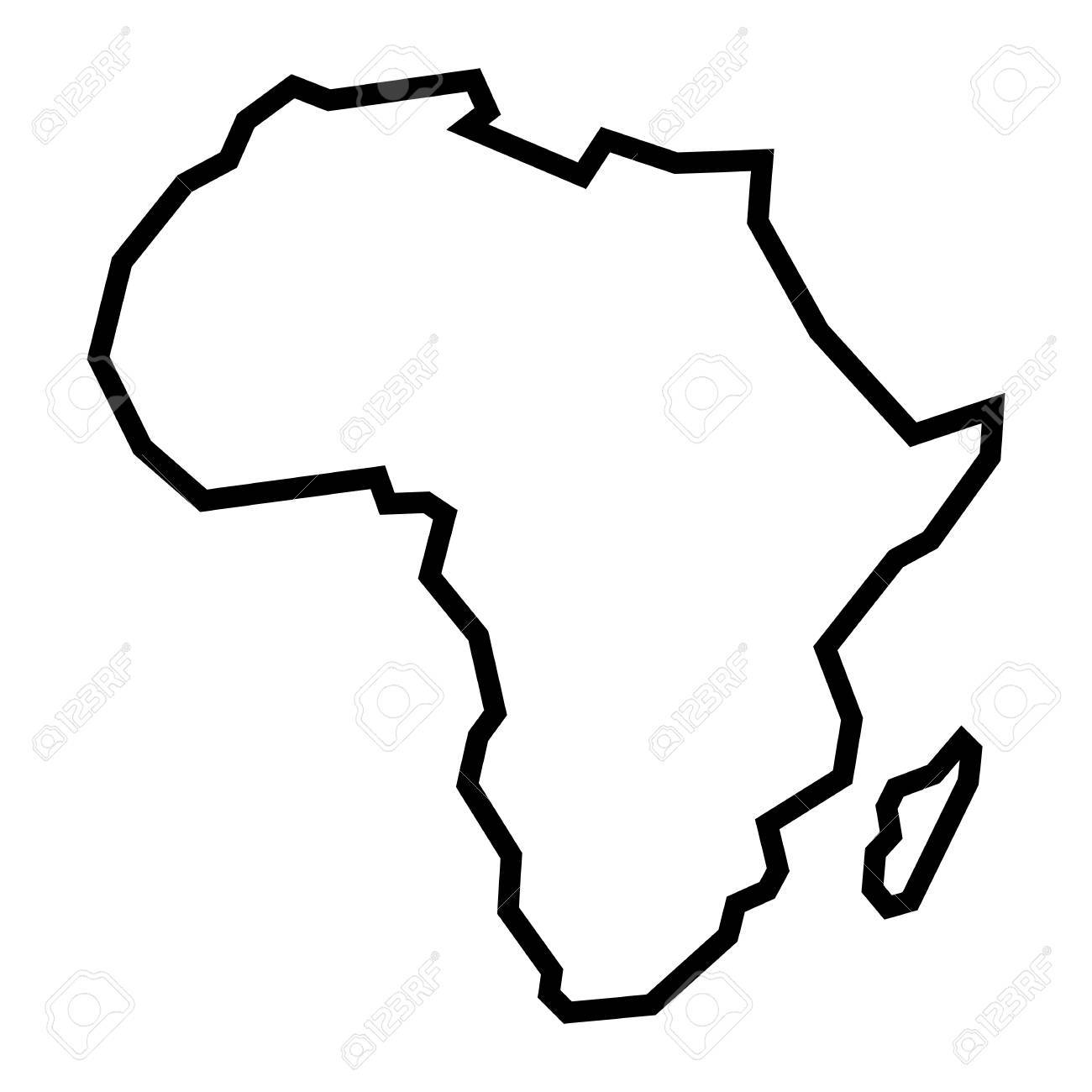 Africa Clipart Outline Africa Outline Transparent Free
