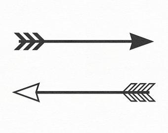 Download Arrows clipart silhouette, Arrows silhouette Transparent ...