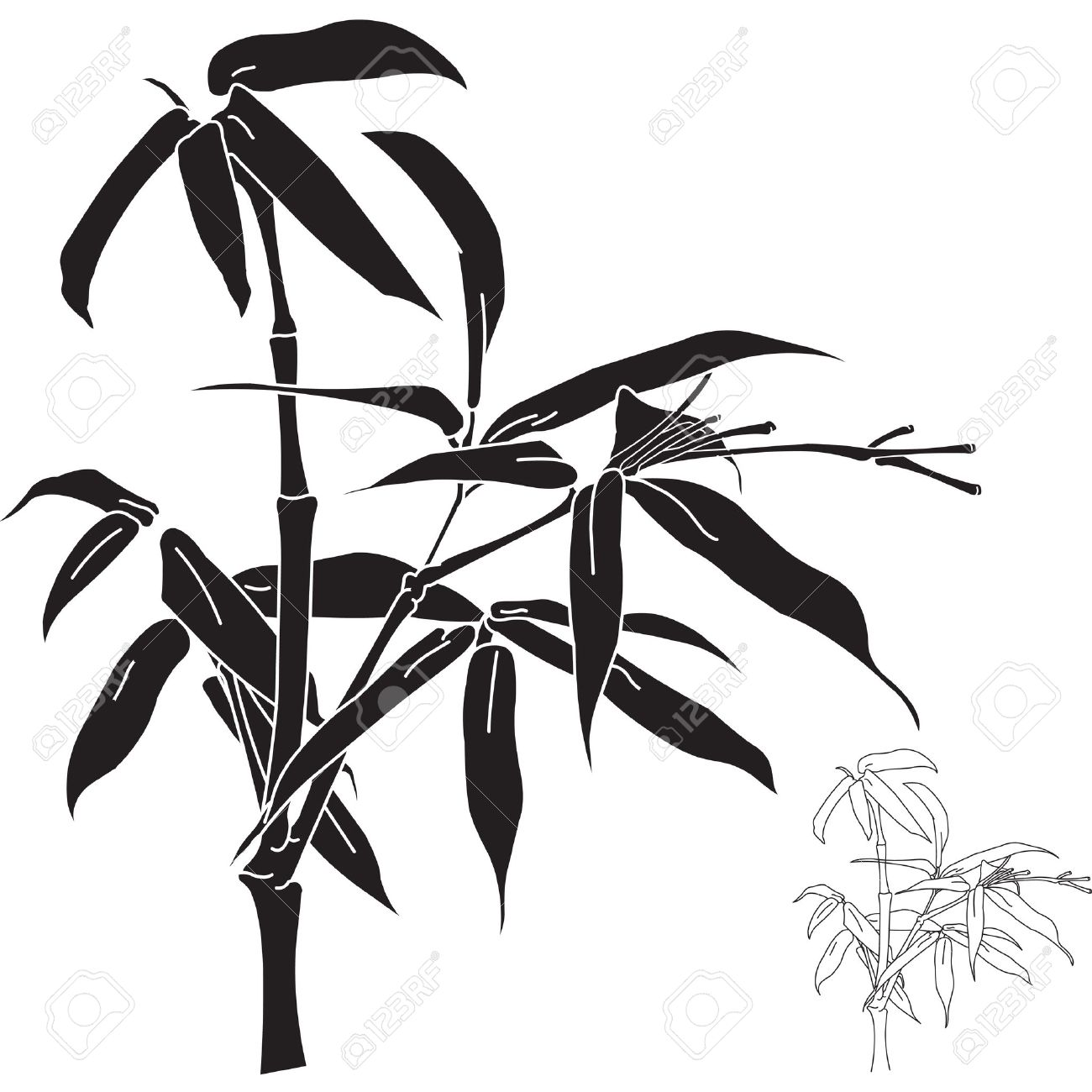 Bamboo Clipart Silhouette Bamboo Silhouette Transparent