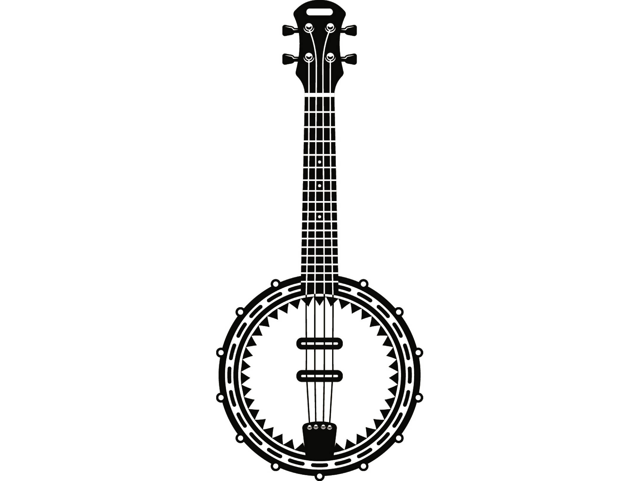 Banjo Clipart Black And White Banjo Black And White