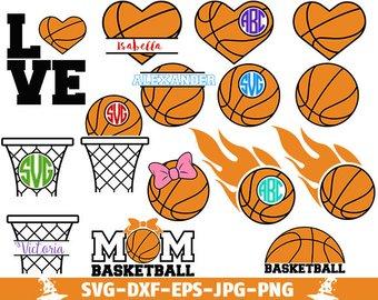 Download Basketball clipart monogram, Basketball monogram ...