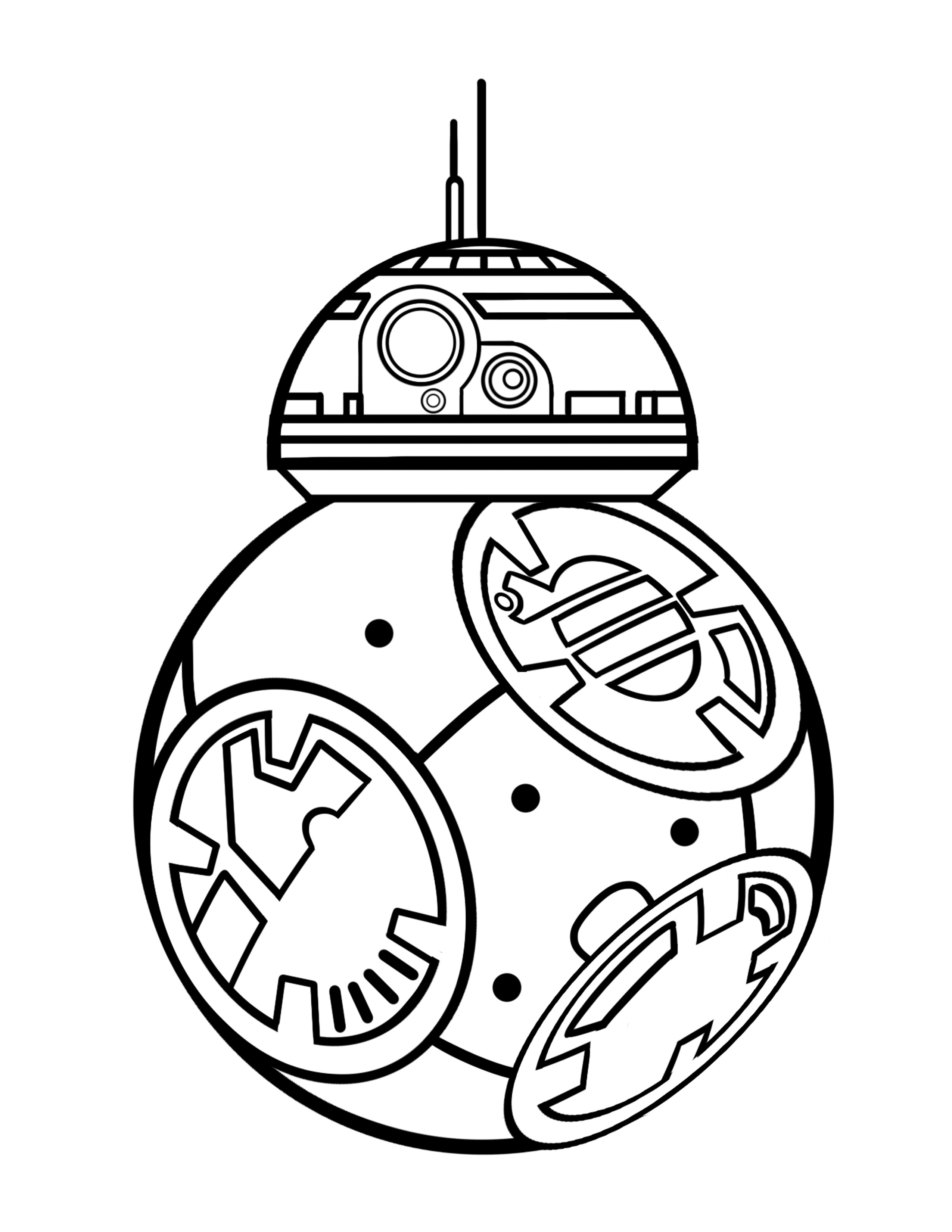 Bb8 Clipart Black And White Bb8 Black And White