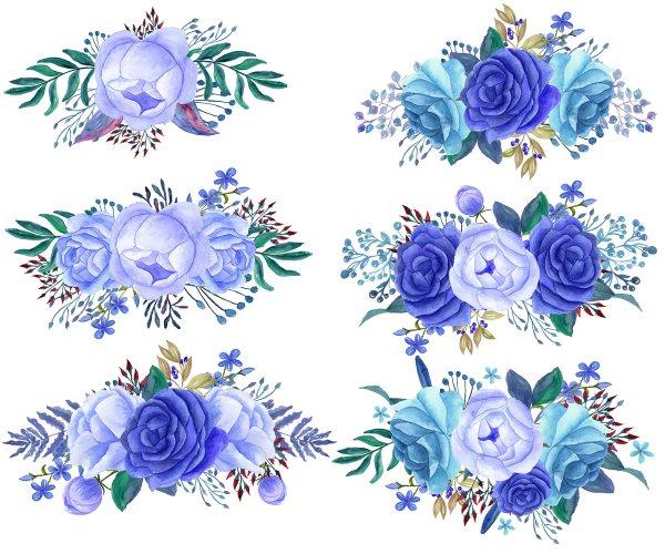 Bouquet clipart blue, Bouquet blue Transparent FREE for ...