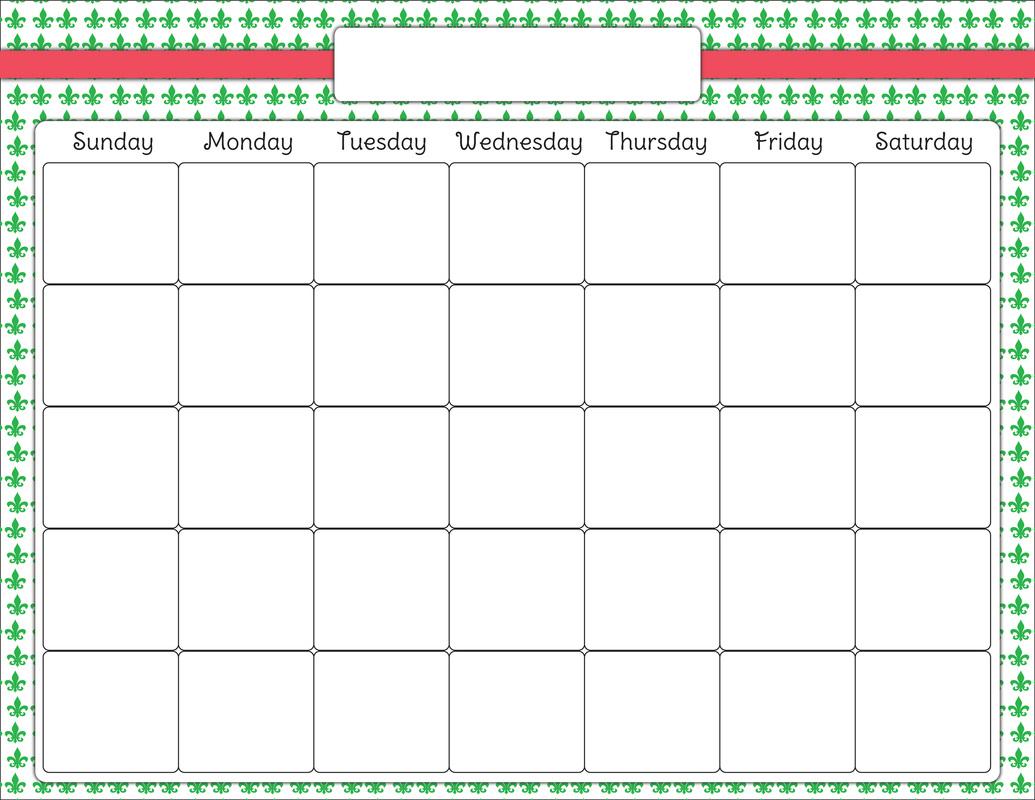 Calendar Clipart Chart Calendar Chart Transparent Free
