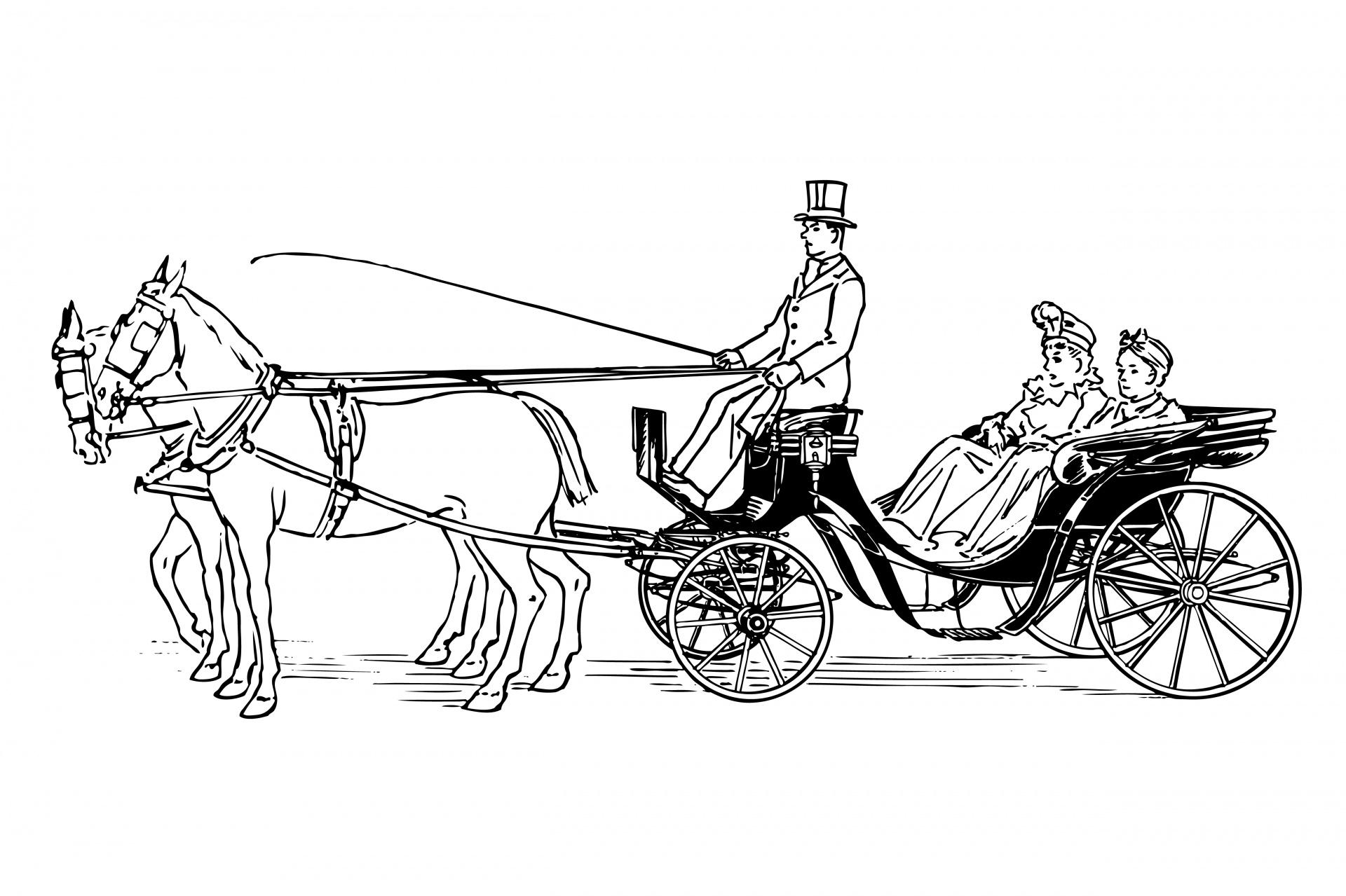 Carriage Clipart Horse Drawn Carriage Horse Drawn