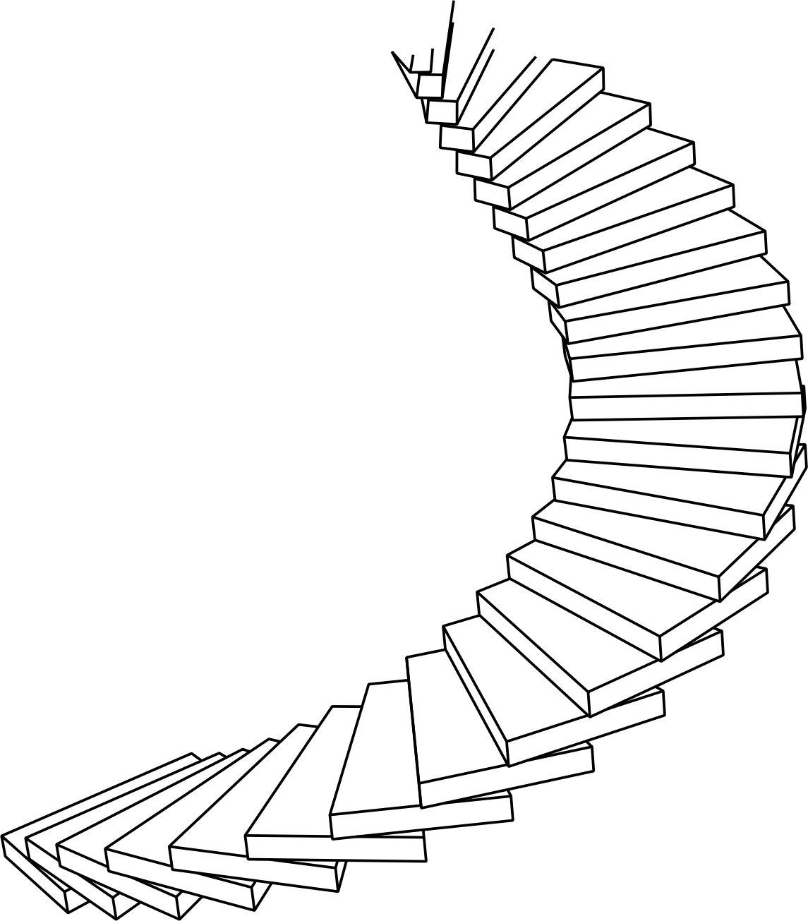 Ladder Clipart Line Drawing Ladder Line Drawing