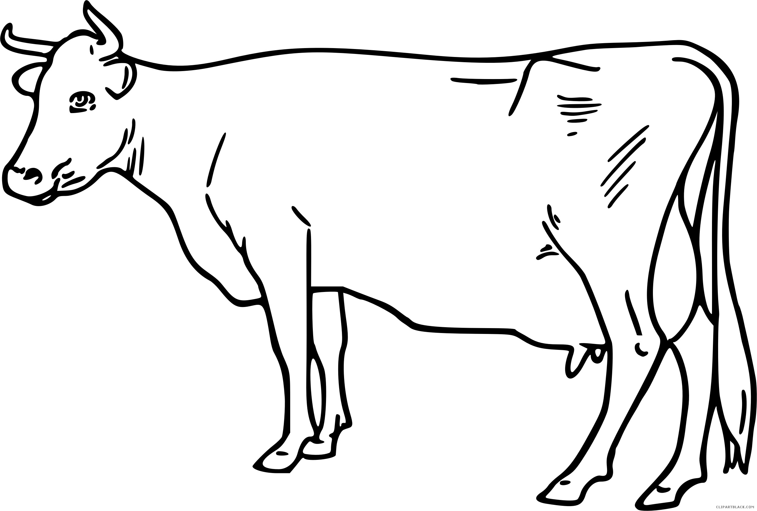 Cows Clipart Outline Cows Outline Transparent Free For