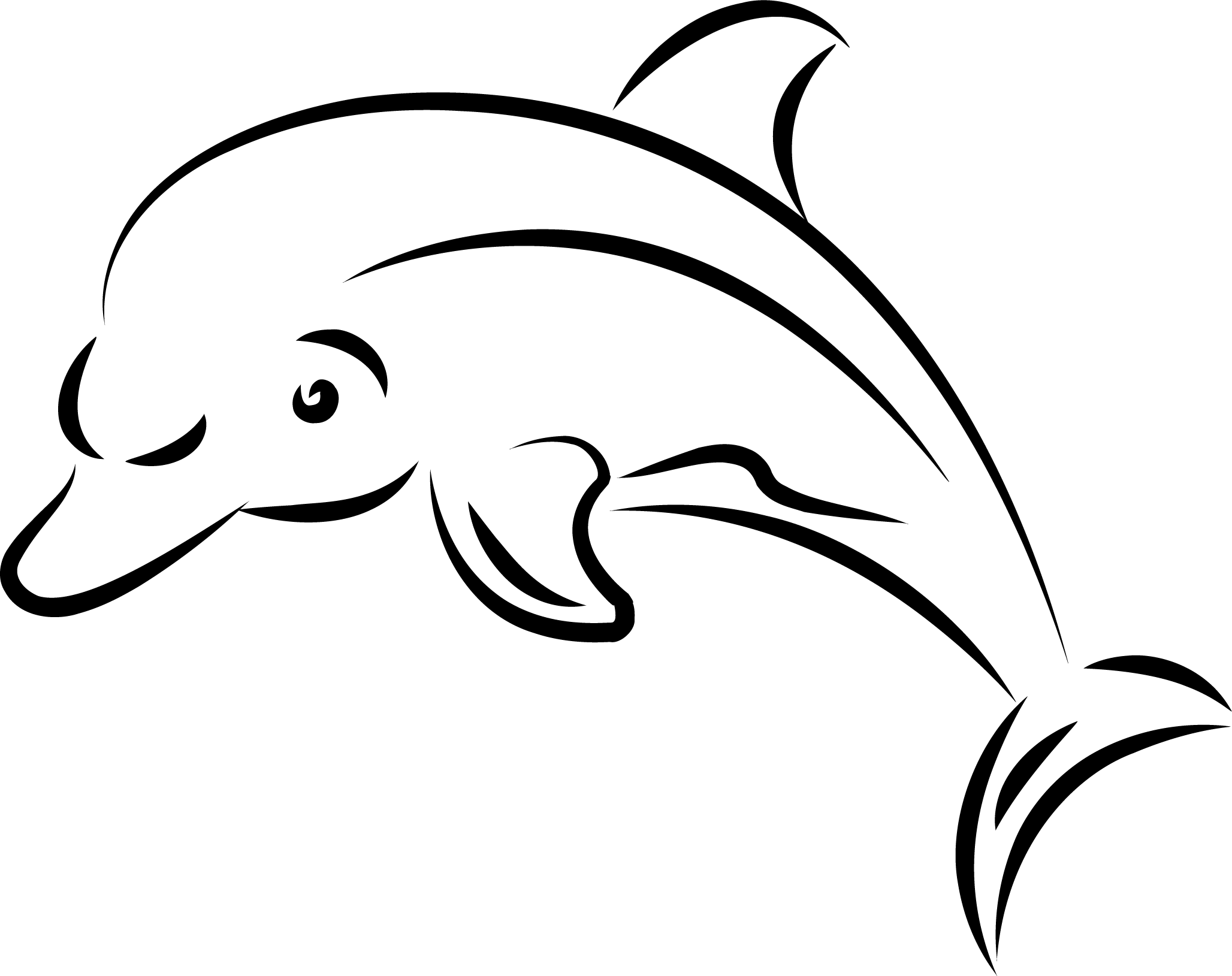 Silhouette Clipart Dolphin Silhouette Dolphin Transparent