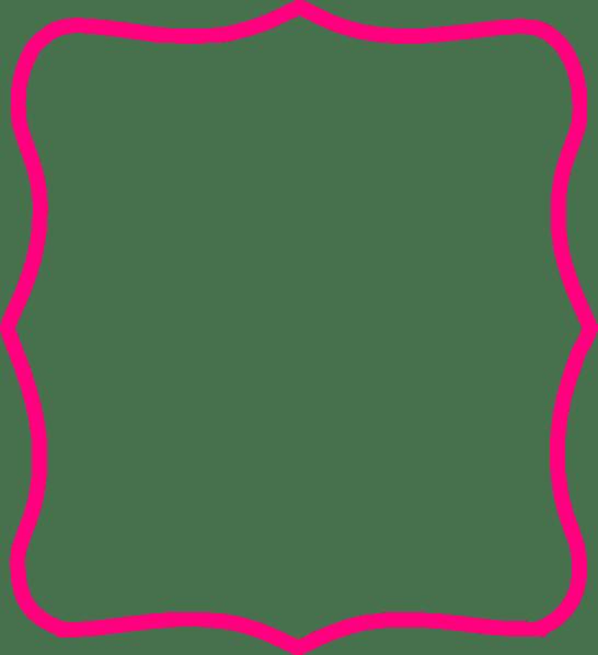 Rose Pink Clip And Art Cream Vintage Border