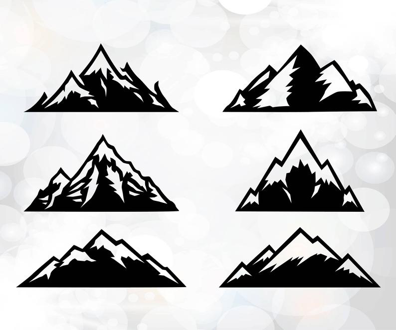 Download Clipart mountain silhouette, Clipart mountain silhouette ...