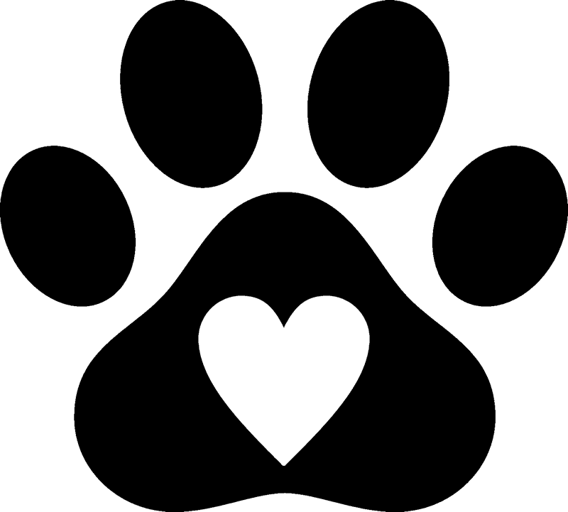 Download Paw clipart heart shaped, Paw heart shaped Transparent ...
