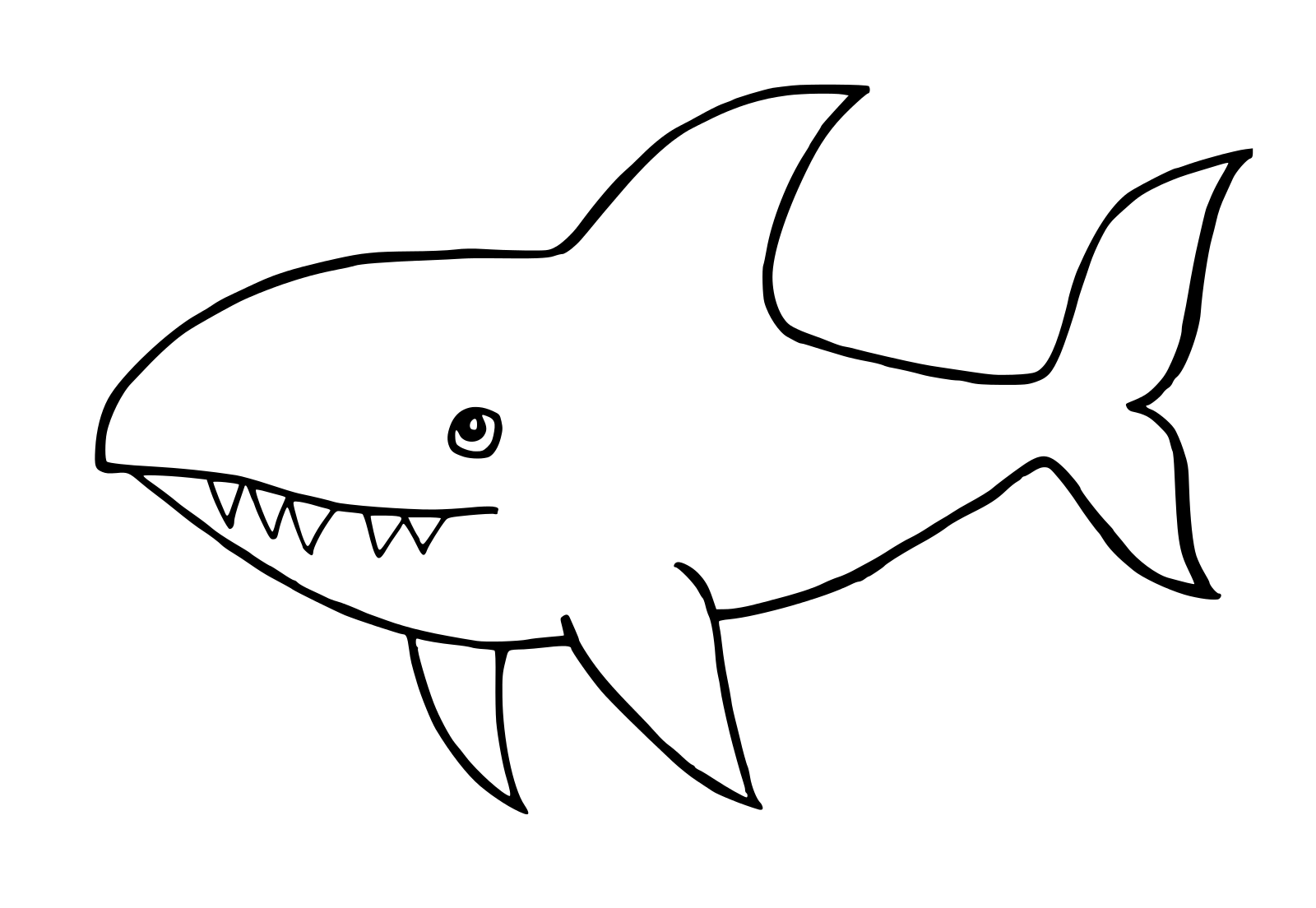 Clipart Shark Black And White Clipart Shark Black And