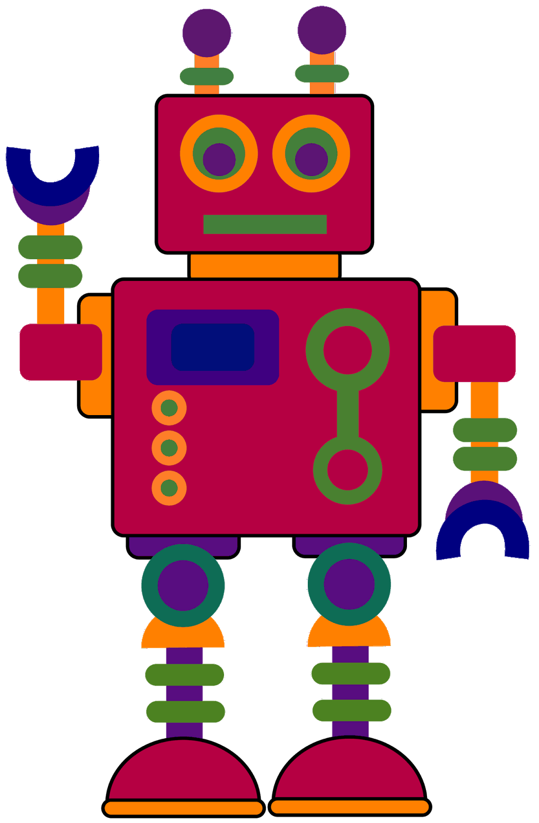 Robot Clipart Quadrilateral Robot Quadrilateral