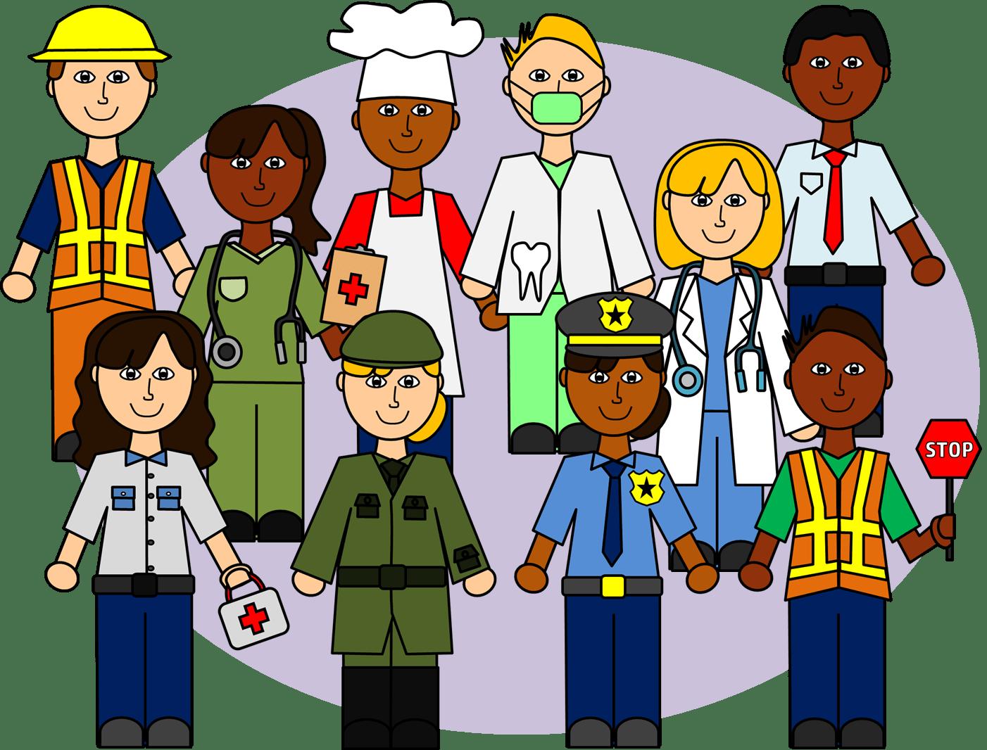 Jobs Clipart Community Helper Jobs Community Helper