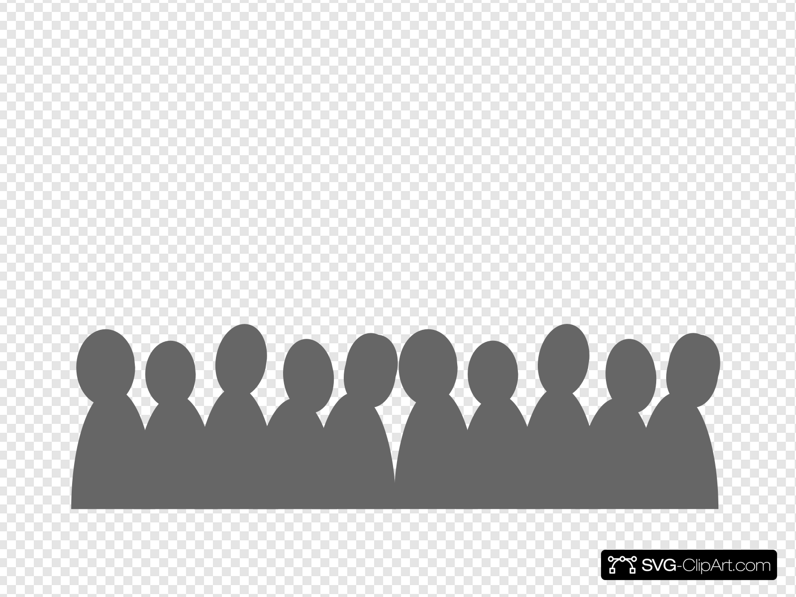 Crowd Clipart Grey Crowd Grey Transparent Free For