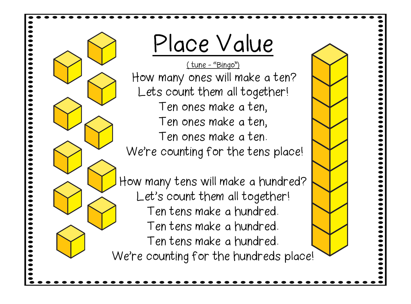 Cube Clipart Place Value Cube Place Value Transparent