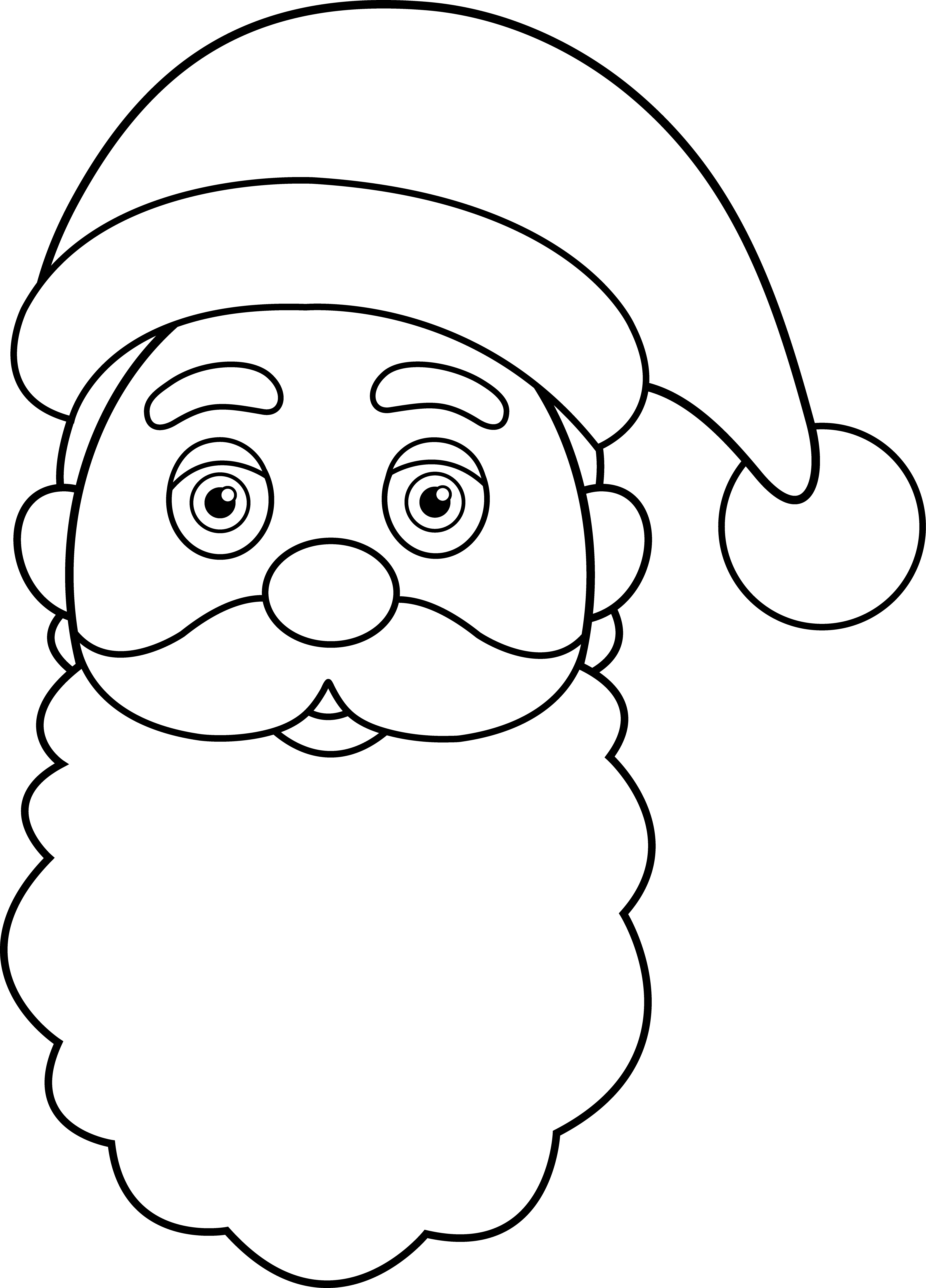 Head Clipart Santa Claus Head Santa Claus Transparent