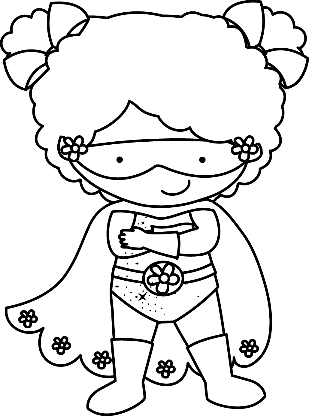 Supergirl Clipart Black And White Supergirl Black And