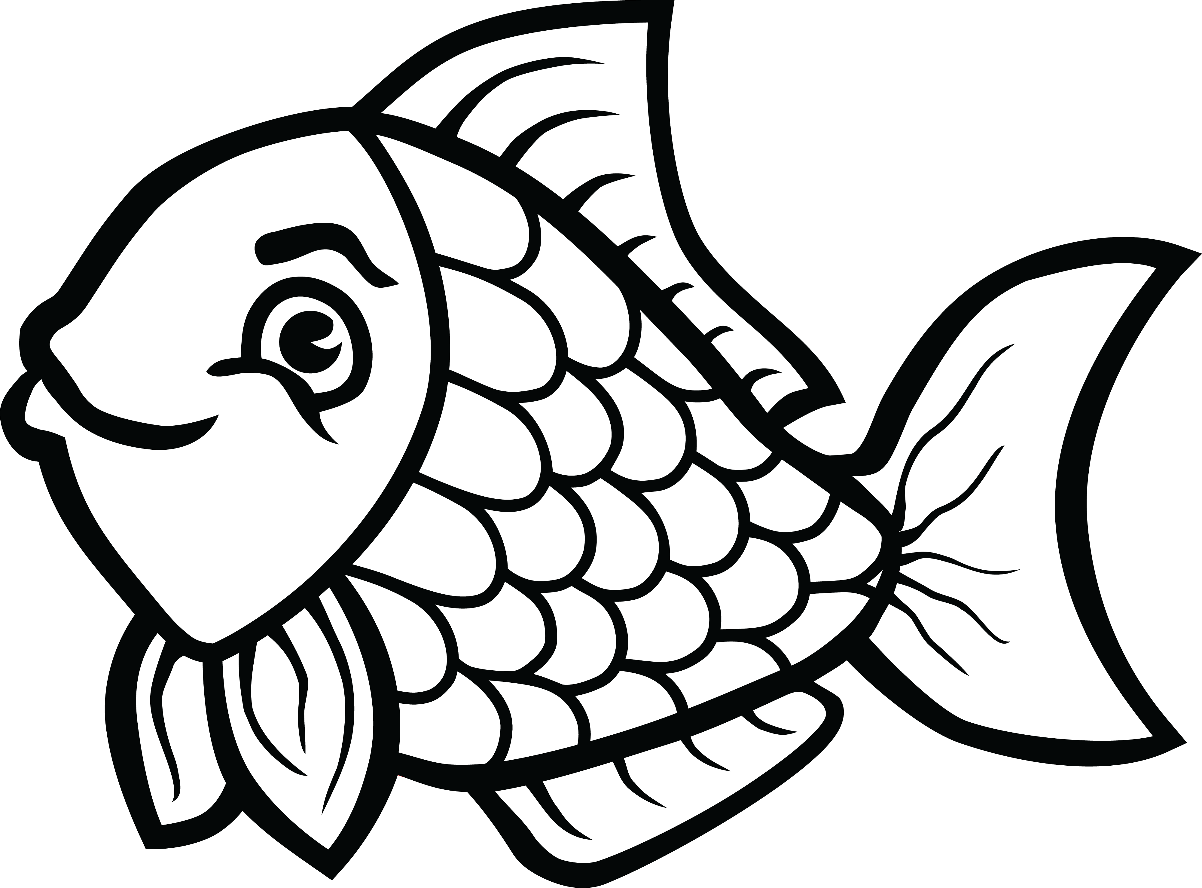 Fishing Clipart Black And White Fishing Black And White