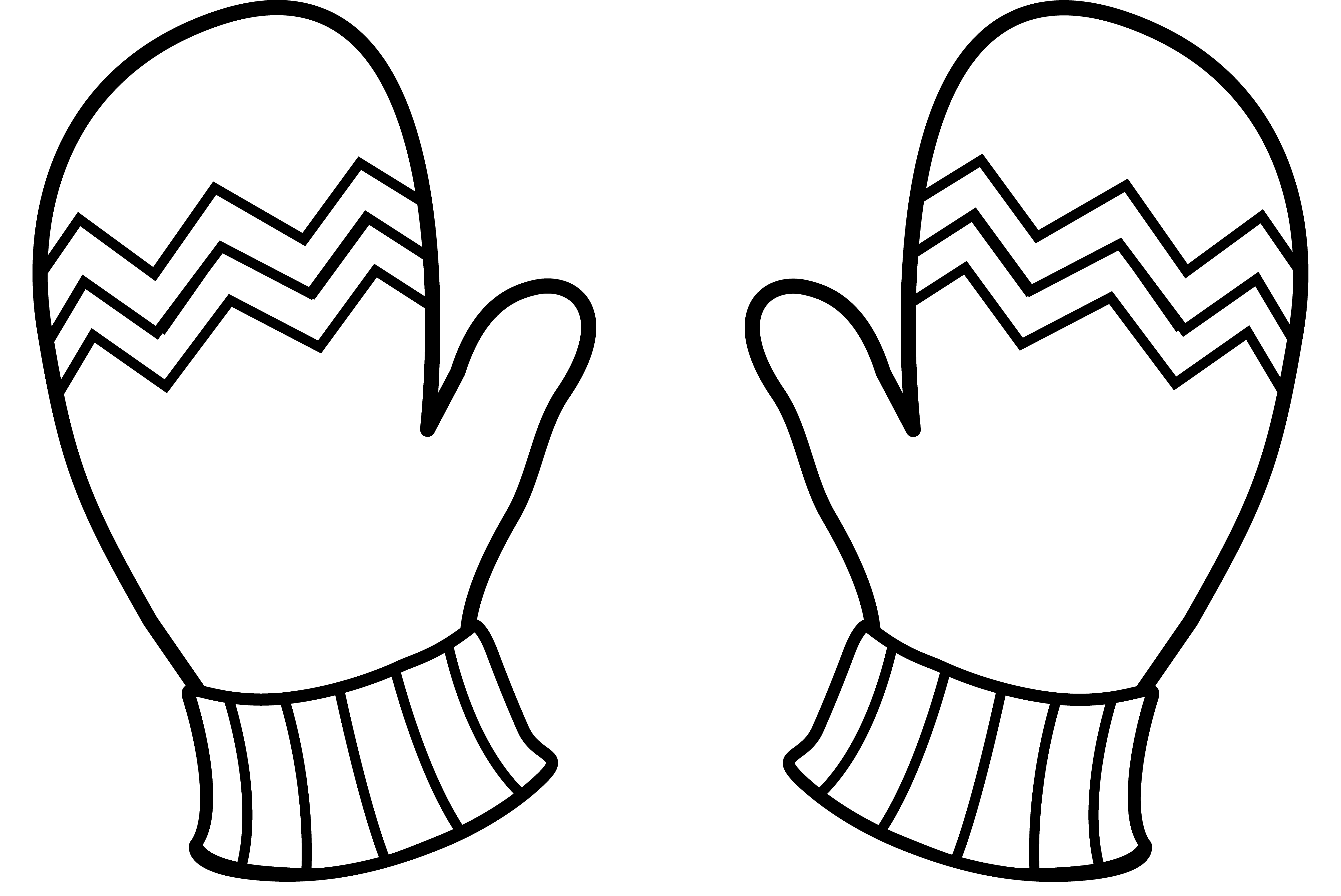 Mittens Clipart Outline Mittens Outline Transparent Free