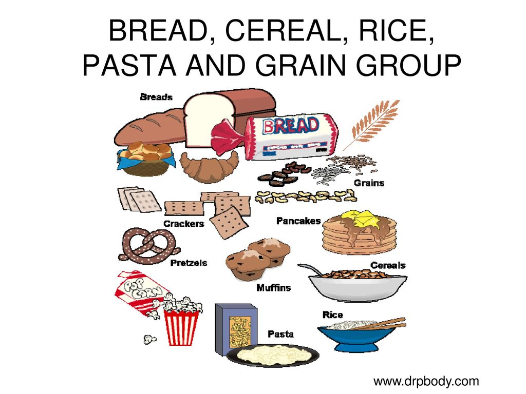 Grains Clipart Bread Cereal Rice Pasta Group Grains Bread