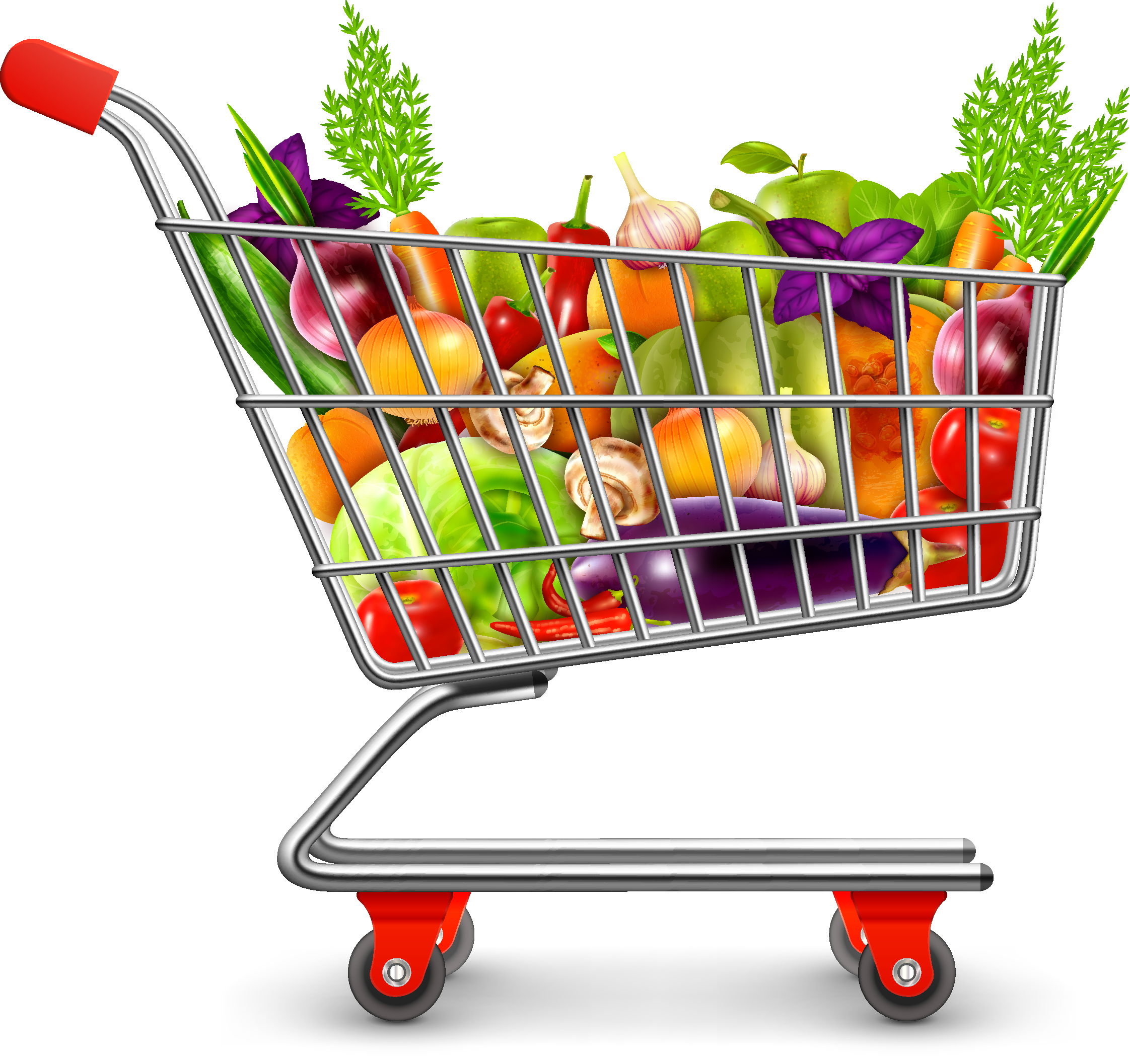 Grocery Clipart Trolley Grocery Trolley Transparent Free