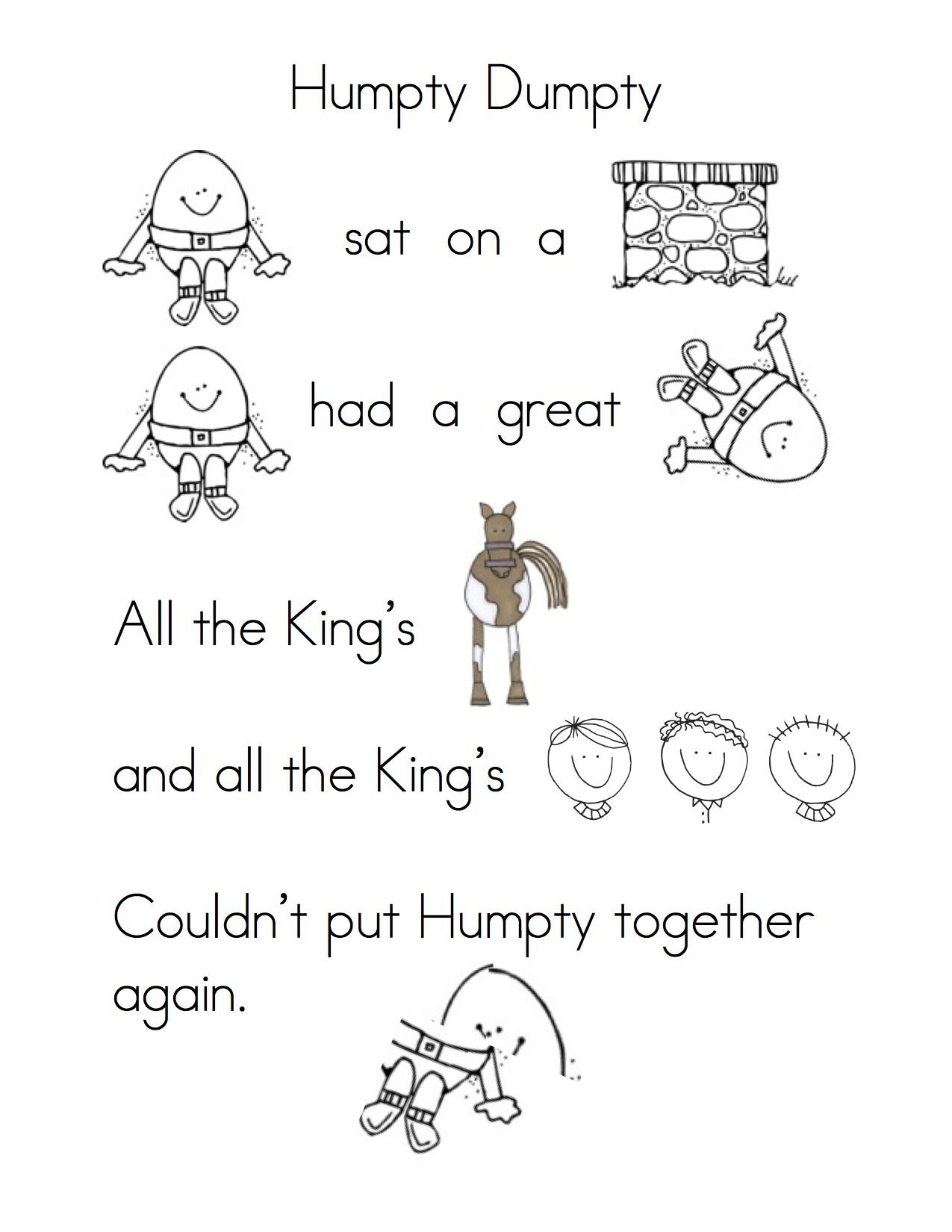 Humpty Dumpty Clipart Kindergarten Humpty Dumpty