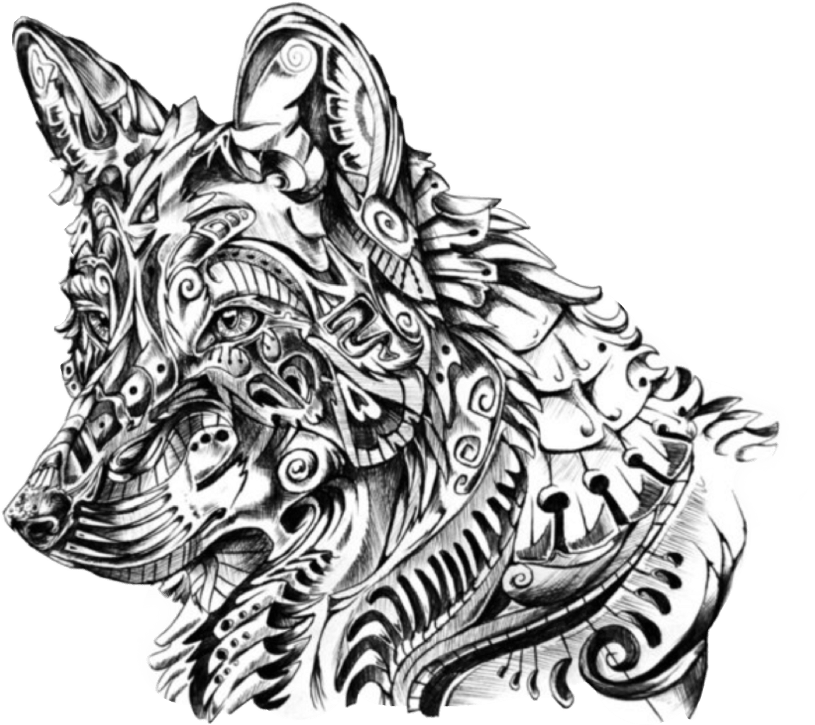 Wolf Clipart Mandala Wolf Mandala Transparent Free For