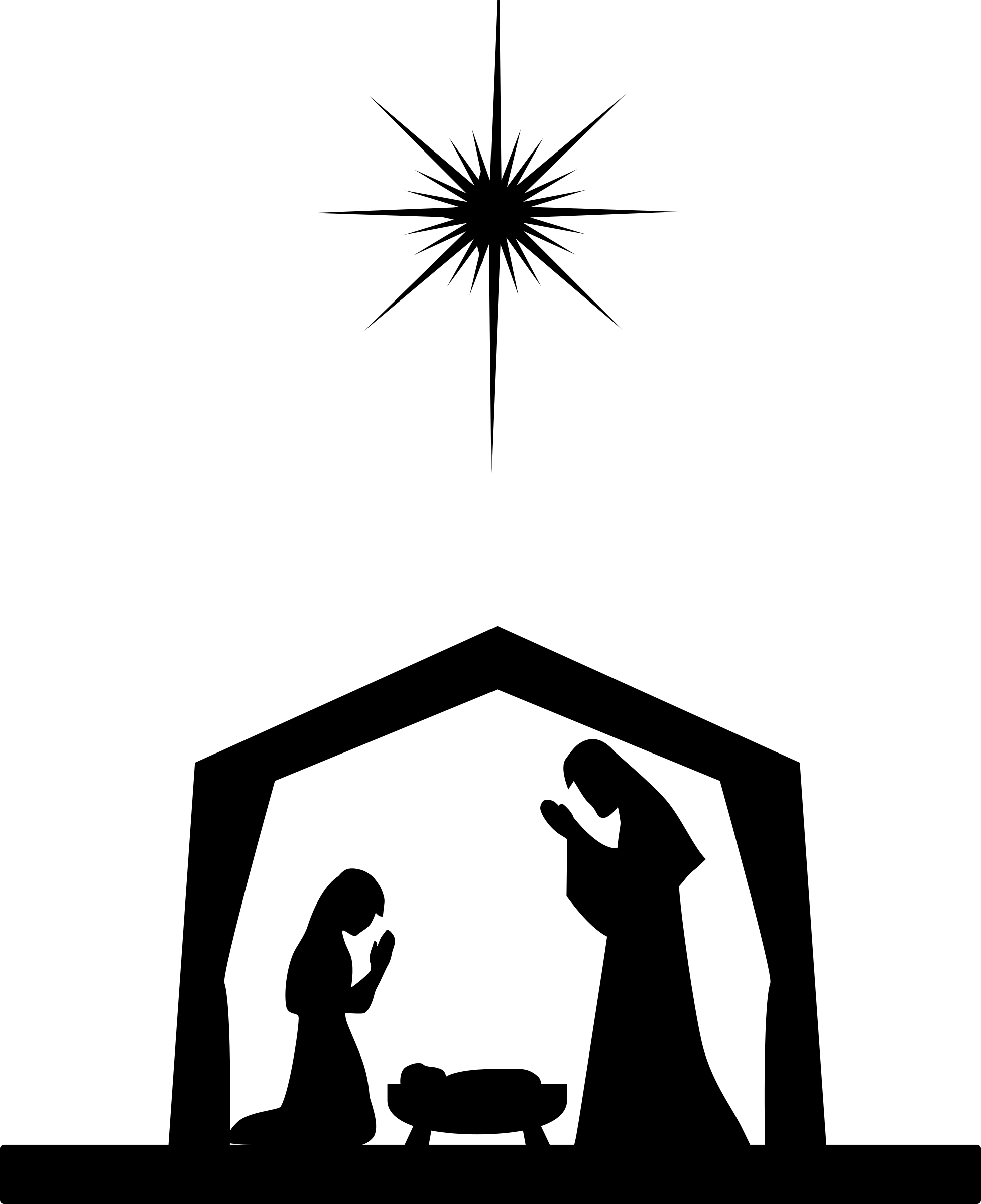 Manger Clipart Coloring Page Manger Coloring Page