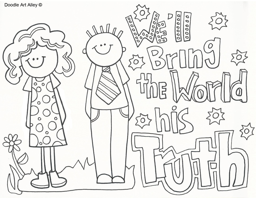 Missionary Clipart Coloring Page Lds Missionary Coloring