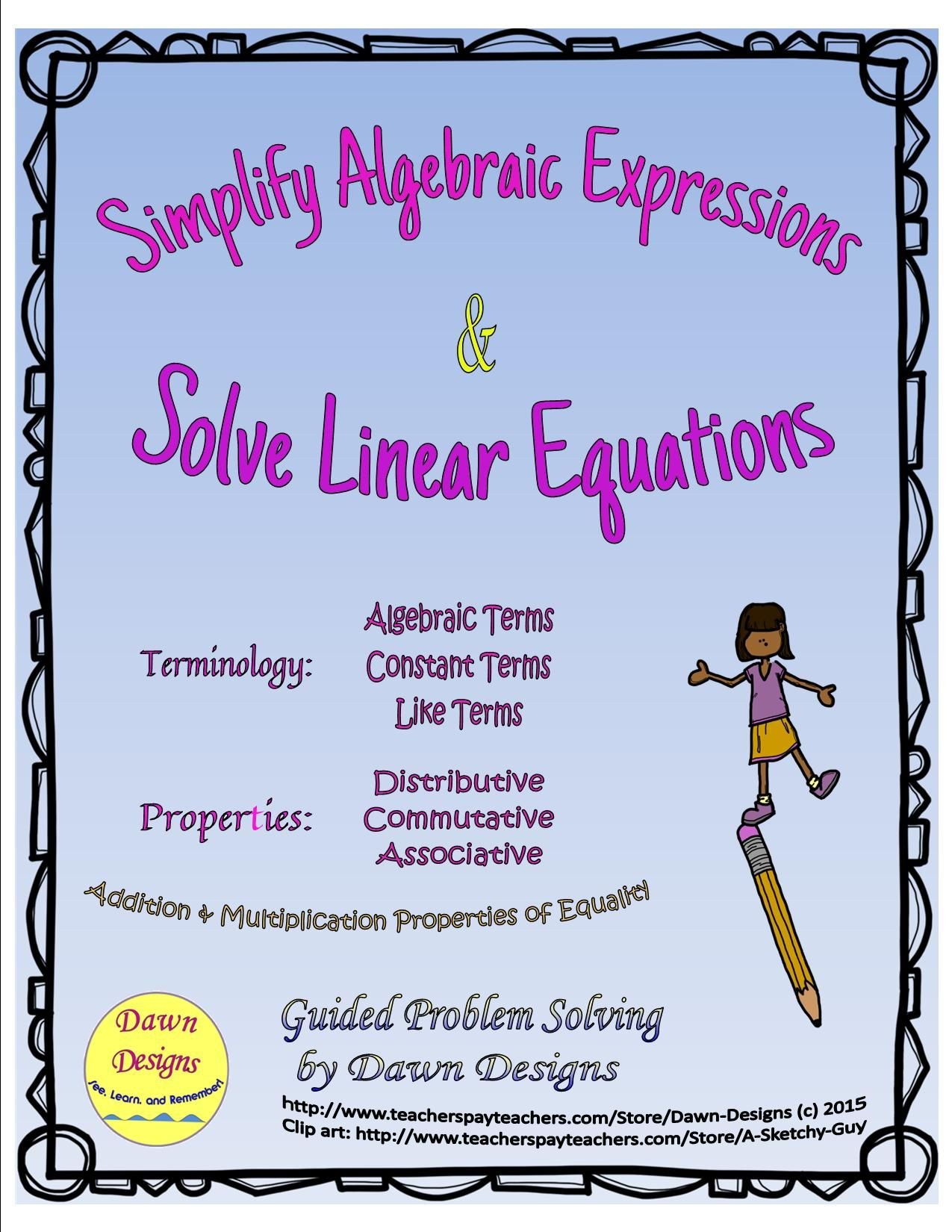 Multiplication Clipart Algebraic Equation Multiplication