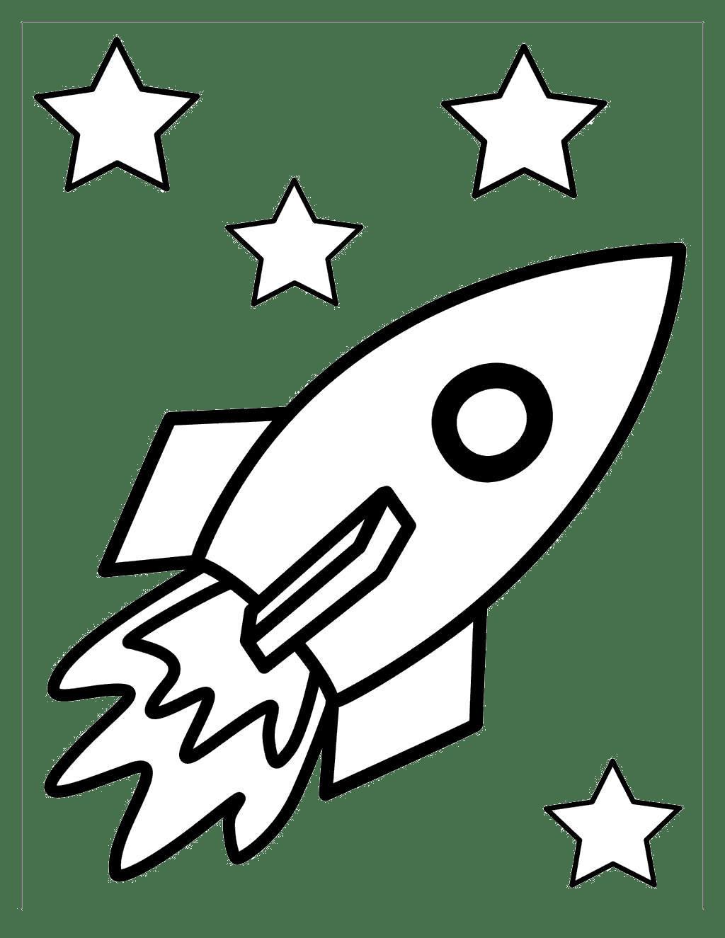 Rocketship Clipart Black And White Rocketship Black And