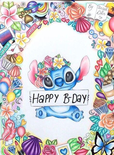 Stitch Clipart Happy Bday Stitch Happy Bday Transparent