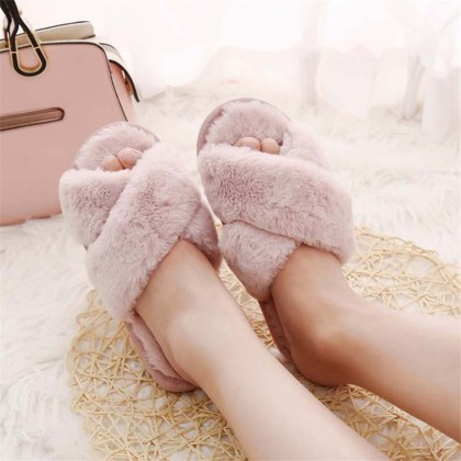 Women's Faux Fur Home Slippers