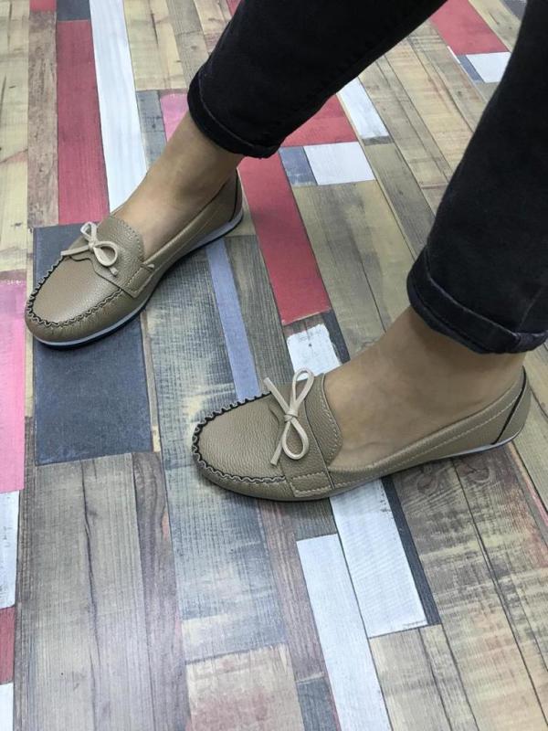 Flat female shoes