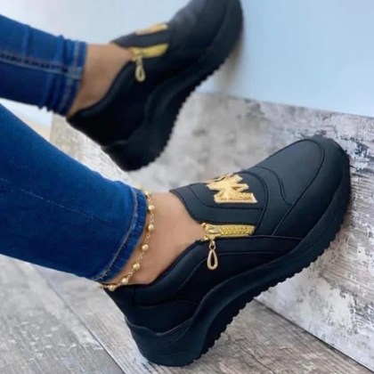 Female Fashion Sneakers with Letter decoration