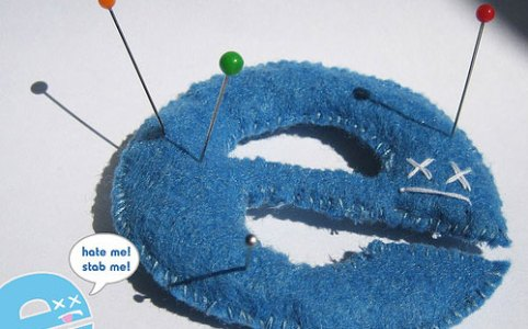 Internet Explorer as a pincushion, perfect for your voodoo needs