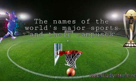 names of the world's major sports and their campuses