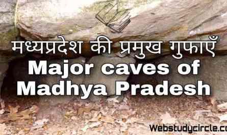 Major caves of Madhya Pradesh