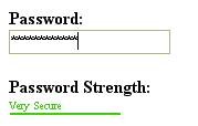 Password Strength Meter Like Google