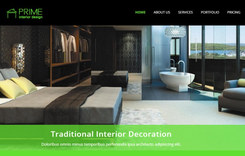 101 Latest Free Responsive HTML Templates 2018 Prime Interior Design Bootstrap Responsive Template