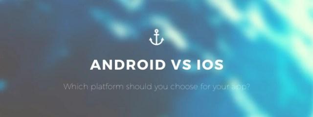 Bild mit text: Welche Plattform solltest du für deine App wählen? Android vs iOS