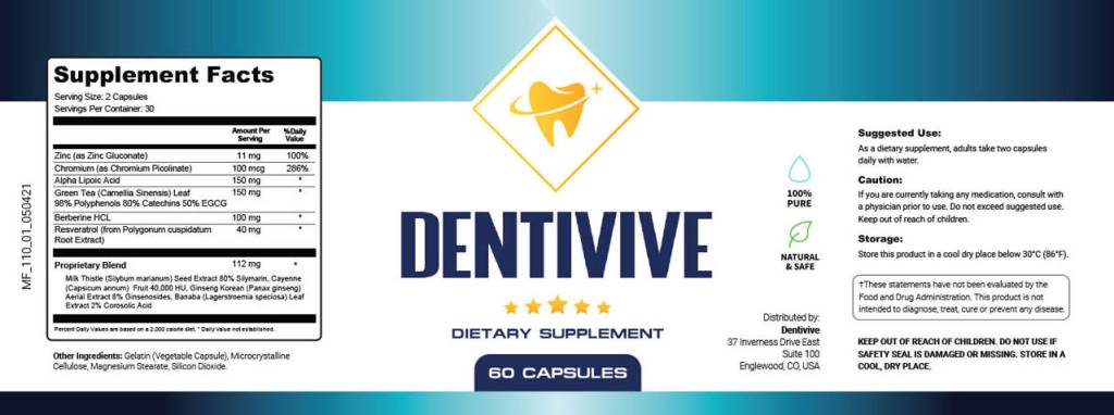What are the ingredients of Dentivive?